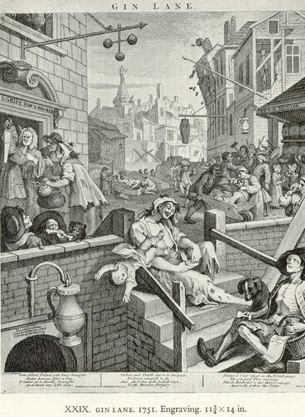W. Hogarth: A Gin-köz